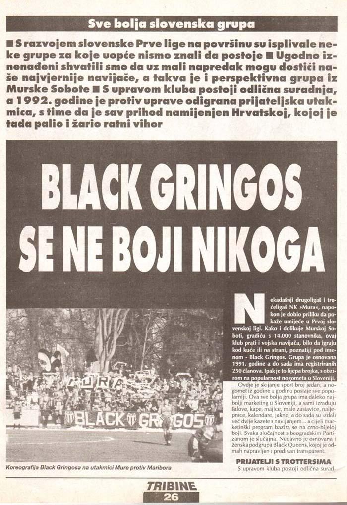 Black Gringos se ne bojijo nikogar, Tribine 1.del, 2.junij 1995