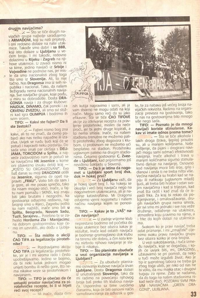 Fajter mehkega srca, 2. del, Čao tifo, 6. november 1990