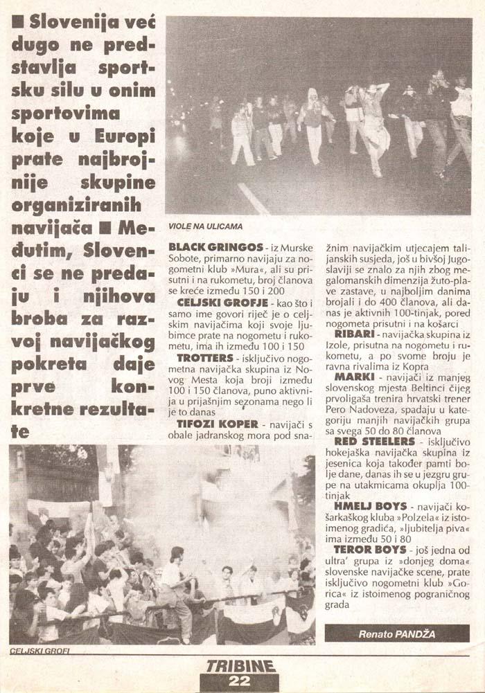 Fantje se ne predajo, 2.del, Tribine, 2. junij 1995