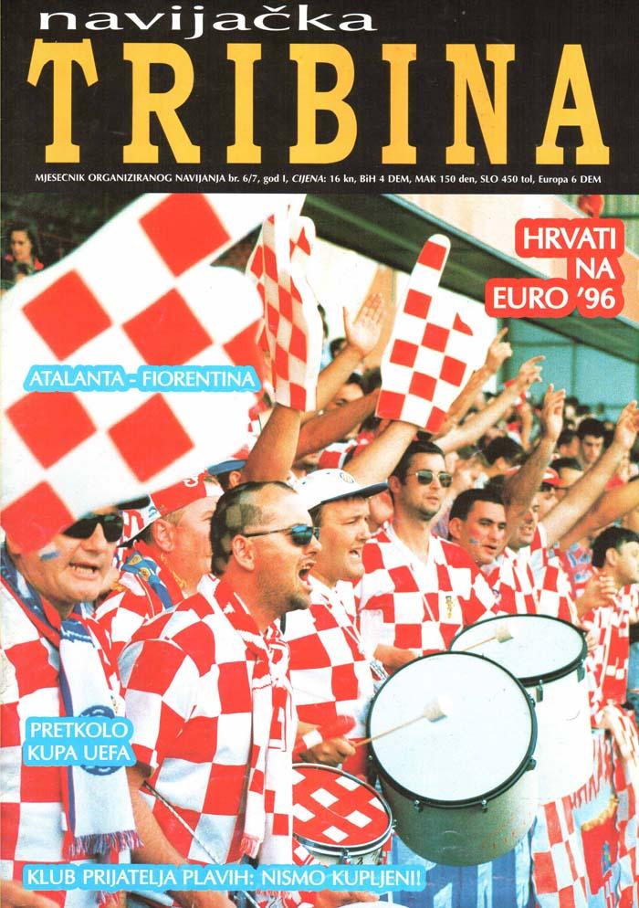 Naslovnica Navijačka tribina, 3. april 1996