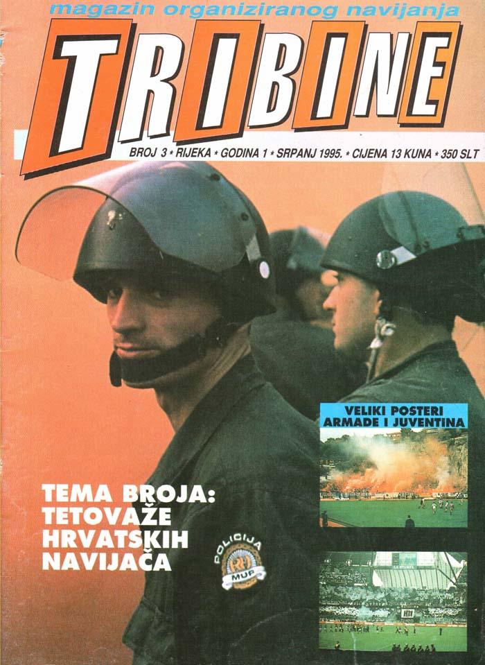 Naslovnica Tribine, 3. junij 1995