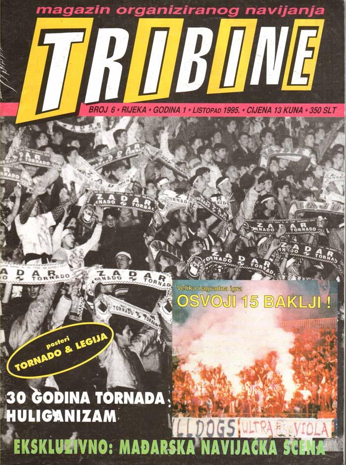 Naslovnica Tribine, 6. oktober 1995