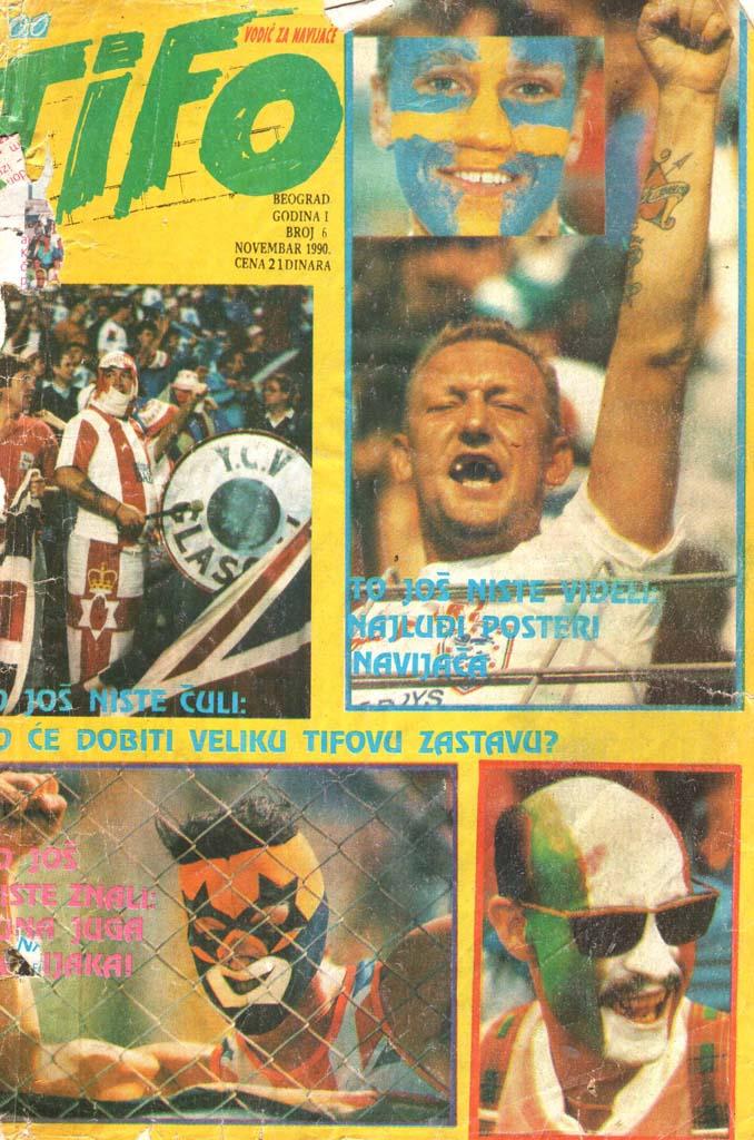 Naslovnica Čao tifo, 6. november 1990