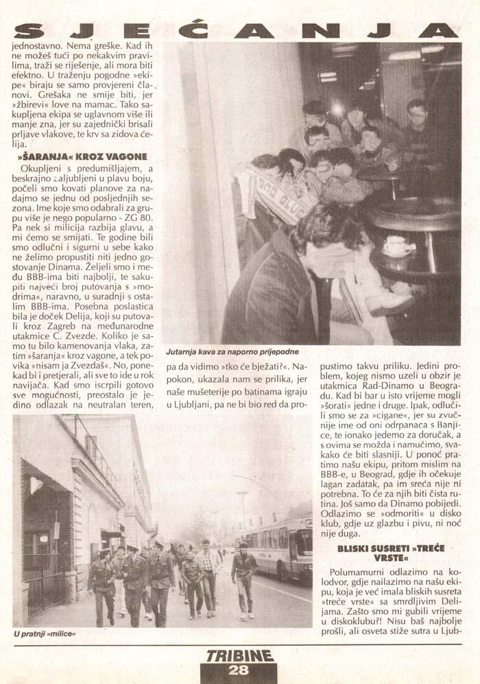 Olimpija-Zvezda 2.del, Tribine, 4. avgust 1995