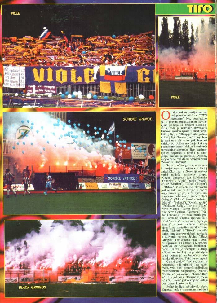 Tifo gibanje v svetu-Slovenija, 1.del, Tifo magazin, št. 21, april 1998