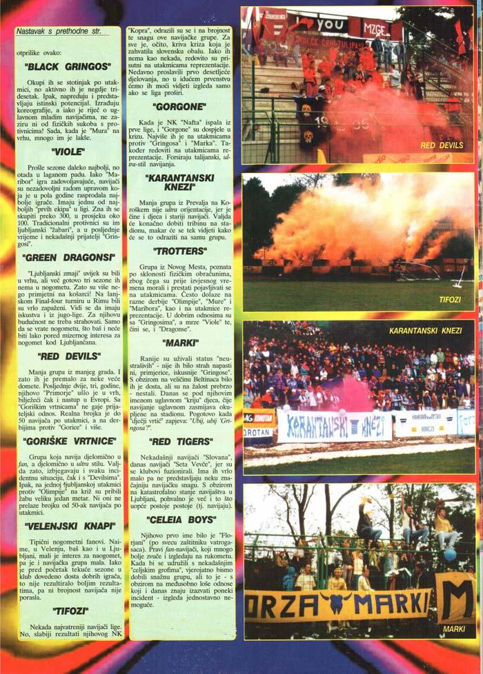 Tifo gibanje v svetu-Slovenija, 3.del, Tifo magazin, št. 21, april 1998