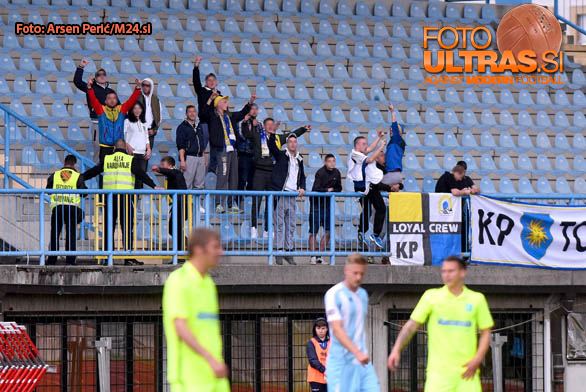 Soccer/Football, Slovenia, Gorica, First Division (ND Gorica - FC Koper), Football team Koper fans, 14-May-2016, (Photo by: Arsen Peric / M24.si)