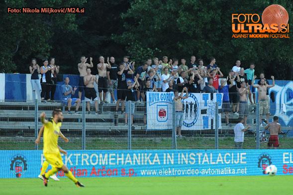 Soccer/Football, Gorica, First Division, 03. round of Prva liga Telekom Slovenije (ND Gorica - NK Radomlje), ND Gorica fnas - Terror boys, 30-Jul-2016, (Photo by: Nikola Miljkovic / M24.si)