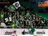 Fans of Olimpija during ice hockey match between HDD Telemach Olimpija and HDD SIJ Acroni Jesenice in Final of Slovenian League 2015/2016, on April 11, 2016 in Hala Tivoli, Ljubljana, Slovenia. Photo By Matic Klansek Velej / Sportida
