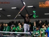 Fans of Olimpija celebrate during ice hockey match between HDD Telemach Olimpija and HDD SIJ Acroni Jesenice in Final of Slovenian League 2015/2016, on April 11, 2016 in Hala Tivoli, Ljubljana, Slovenia. Photo By Matic Klansek Velej / Sportida