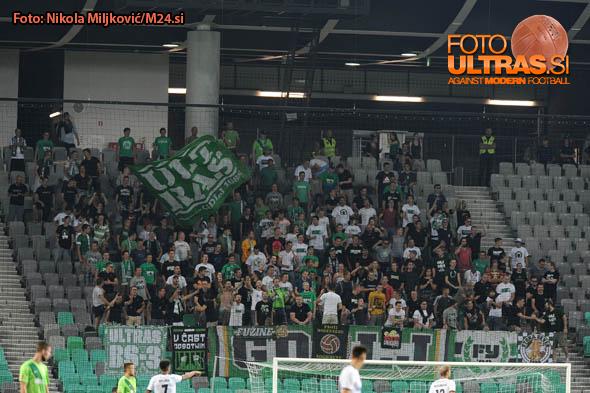 Soccer/Football, Ljubljana, First Division, 07. round of Prva liga Telekom Slovenije (NK Olimpija - FC Luka Koper), Green Dragons, 27-Aug-2016, (Photo by: Nikola Miljkovic / M24.si)