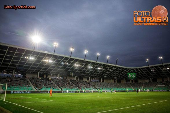 Stadium during football match between NK Olimpija Ljubljana and NK Krsko in 3rd Round of Prva liga Telekom Slovenije 2016/17, on August 1, 2016 in SRC Stozice, Ljubljana, Slovenia. Photo by Vid Ponikvar / Sportida