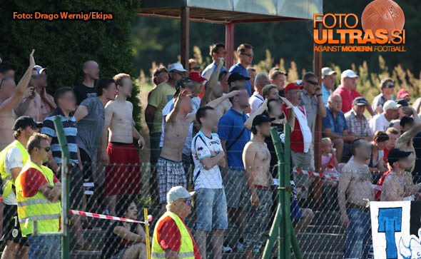 Soccer/Football, Kidricevo, Qualification match for first division (NK Aluminij - ND Gorica) 07-Jun-2015, Fans Gorica, (Photo by: Drago Wernig / Ekipa)