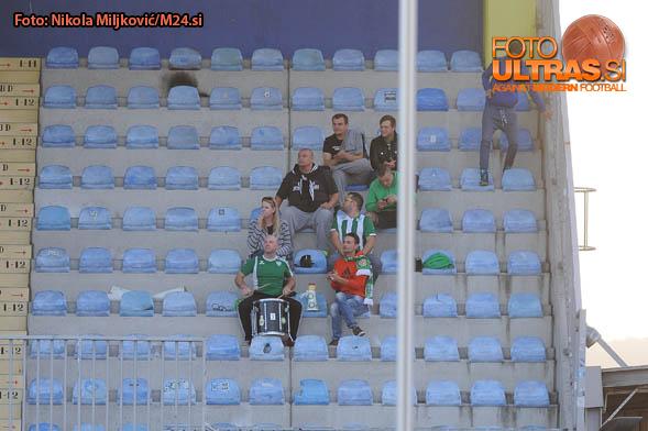 Soccer/Football, Domzale, First Division, 11. round of Prva liga Telekom Slovenije (NK Domzale - NK Krsko), NK Krsko fans, 24-Sep-2016, (Photo by: Nikola Miljkovic / M24.si)