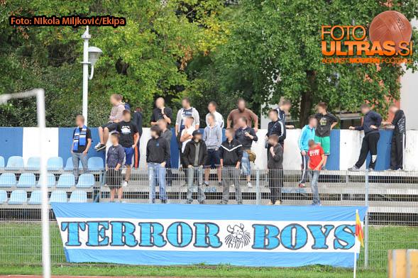 Soccer/Football, Nova Gorica, First Division (ND Gorica - NK CM Celje), Gorica fans, terror boys, 13-Sep-2014, (Photo by: Nikola Miljkovic / Krater Media)