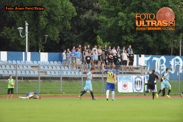 Soccer/Football, Slovenia, Gorica, First Division (ND Gorica - NK Luka Koper), Football team Gorica fans, 03-Aug-2014, (Photo by: Arsen Peric / Ekipa)