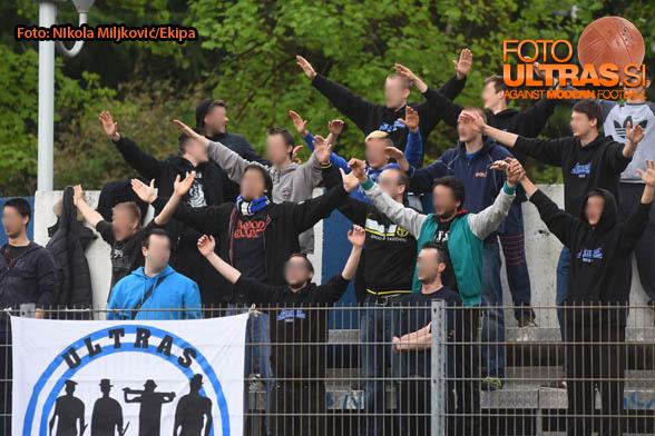 Soccer/Football, Nova Gorica, First Division (ND Gorica - NK Krka Novo mesto), Gorica fans, 25-Apr-2015, (Photo by: Nikola Miljkovic / M24.si)