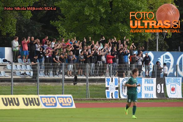 Soccer/Football, Nova Gorica, First Division (ND Gorica - NK Krka), Gorica fans, 28-Sep-2015, (Photo by: Nikola Miljkovic / M24.si)