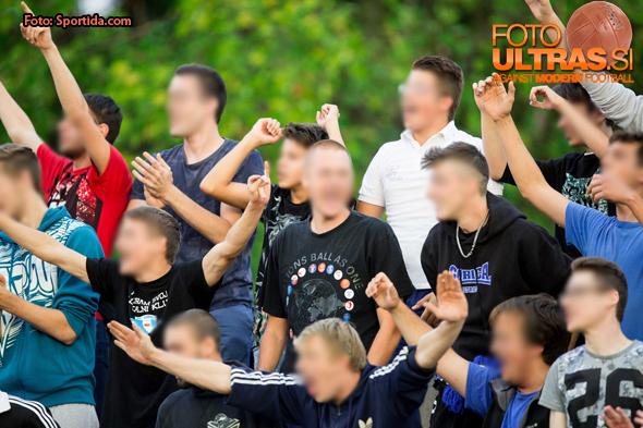 Terror Boys, fans of Gorica during football match between ND Gorica and NK Maribor in 9th Round of Prva liga Telekom Slovenije 2015/16, on September 12, 2015, in Sports centrum Nova Gorica, Slovenia. Photo by Vid Ponikvar / Sportida