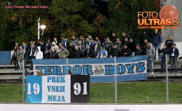 Soccer/Football, Gorica, Slovenian cup (ND Gorica - NK Maribor), Fans, 19-Oct-2016, (Photo by: Drago Wernig / Ekipa)