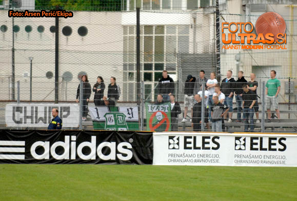 Soccer/Football, Slovenia, Gorica, First Division (ND Gorica - NK Olimpija), Football team Olimpija fans, 09-May-2015, (Photo by: Arsen Peric / M24.si)
