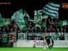 Green Dragons, fans of Olimpija during football match between FC Luka Koper and NK Olimpija Ljubljana in Round #16 of Prva liga Telekom Slovenije 2016/17, on November 6, 2016 in Stadium Bonifika, Koper/ Capodistria, Slovenia. Photo by Vid Ponikvar / Sportida
