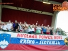 Nuclear power boys, Fans of Krsko celebrate after winning during football match between NK Krsko and NK Celje in 1st Round of Prva liga Telekom Slovenije 2015/16, on July 19, 2015 in Stadium Matije Gubca, Krsko, Slovenia. Photo by Vid Ponikvar / Sportida
