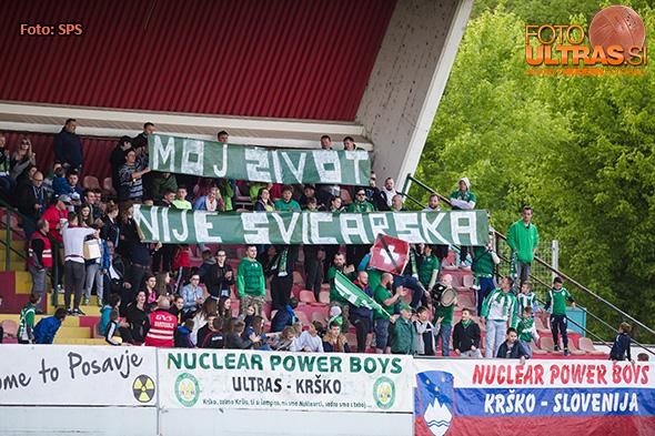 in action during Prva liga Telekom Slovenije football match between Krsko and Olimpija in Krsko, Slovenia on April 23, 2017