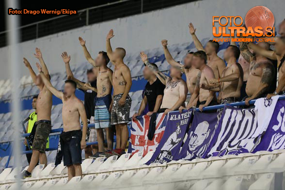 Soccer/Football, Larnaca, UEFA Champions League (Maccabi Tel Aviv - NK Maribor), Fans Maribor, 05-Aug-2014, (Photo by: Drago Wernig / Ekipa)