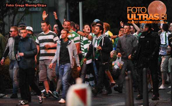 Soccer/Football, Maribor, UEFA Champions League (NK Maribor - Celtic Glasgow), Fans, Police, 20-Aug-2014, (Photo by: Grega Wernig / Ekipa)