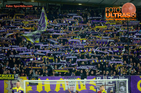 Viole, fans of Maribor during football match between NK Maribor, SLO  and Chelsea FC, ENG in Group G of Group Stage of UEFA Champions League 2014/15, on November 5, 2014 in Stadium Ljudski vrt, Maribor, Slovenia. Photo by Vid Ponikvar / Sportida