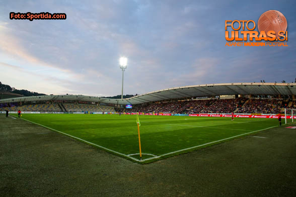 View on the pitch during football match between NK Maribor and NK Domzale in 34th Round of Prva liga Telekom Slovenije 2014/15, on May 16, 2015 in Stadium Ljudski vrt, Maribor, Slovenia. Photo by Matic Klansek Velej / Sportida
