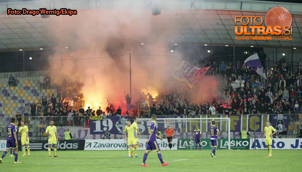 Soccer/Football, Maribor, First division (NK Maribor - NK Domzale), Viole, 16-May-2015, (Photo by: Grega Wernig / M24.si)