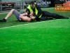 Fan of Gorica beaten by security guard when he wanted to sep into the court to celebrate victory after the football match between NK Maribor and ND Gorica in Final of Slovenian Cup 2014 on May 21, 2014 in Stadium Bonifika, Koper, Slovenia. Photo by Vid Ponikvar / Sportida