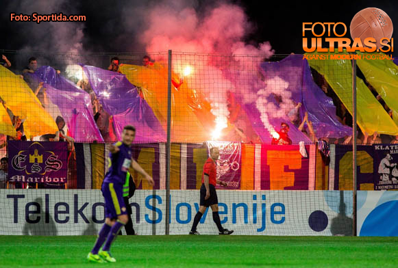 Viole, fans of Maribor during football match between NK Maribor and ND Gorica in Final of Slovenian Cup 2014 on May 21, 2014 in Stadium Bonifika, Koper, Slovenia. Photo by Vid Ponikvar / Sportida