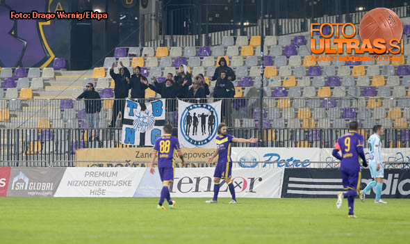 Soccer/Football, Maribor, First division (NK Maribor - ND Gorica), Fans Gorica, 22-Oct-2016, (Photo by: Drago Wernig / Ekipa)