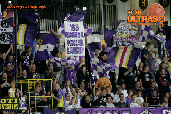 Soccer/Football, Maribor, First division (NK Maribor - NK Gorica), Fans Viole, 09-Aug-2014, (Photo by: Drago Wernig / Ekipa)