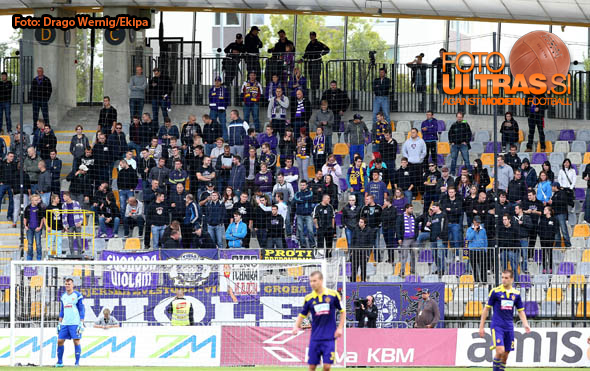 Soccer/Football, Maribor, First division, (NK Maribor - NK Krka), Fans Viole, 13-Sep-2014, (Photo by: Drago Wernig / Ekipa)