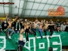 Green Dragons, fans of Olimpija celebrate after the football match between NK Maribor and NK Olimpija Ljubljana in 12th Round of Prva liga Telekom Slovenije 2014/15, on October 4, 2014 in Stadium Ljudski vrt, Maribor, Slovenia. Photo by Vid Ponikvar / Sportida.com
