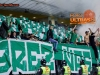 Green Dragons, fans of Olimpija during football match between NK Maribor and NK Olimpija Ljubljana in 12th Round of Prva liga Telekom Slovenije 2014/15, on October 4, 2014 in Stadium Ljudski vrt, Maribor, Slovenia. Photo by Vid Ponikvar / Sportida.com