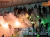 Green Dragons, Supporters of Olimpija during 2nd Leg football match between NK Maribor and NK Olimpija Ljubljana in Semifinal of Slovenian Football Cup 2016/17, on April 12, 2017 in Stadium Ljudski vrt, Maribor, Slovenia. Photo by Vid Ponikvar / Sportida