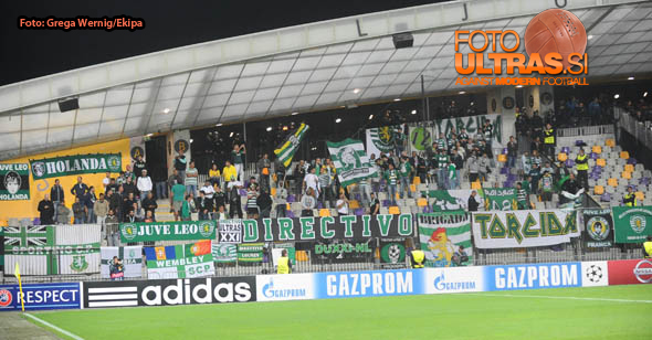 Soccer/Football, Maribor, UEFA Champions League (NK Maribor - Sporting Clube de Portugal), Sporting fans, 17-Sep-2014, (Photo by: Grega Wernig / Ekipa)