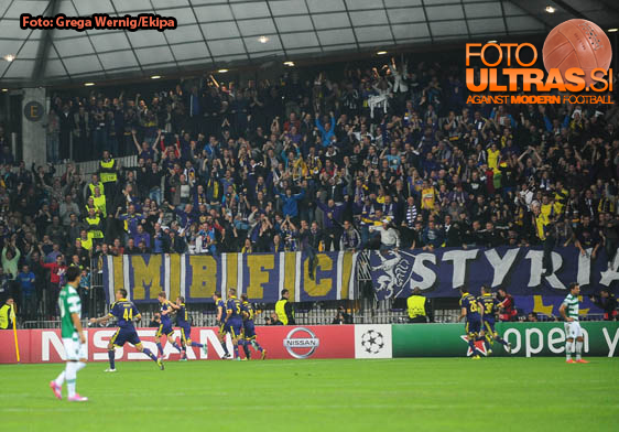 Soccer/Football, Maribor, UEFA Champions League (NK Maribor - Sporting Clube de Portugal), Luka Zahovic, Viole fans, 17-Sep-2014, (Photo by: Grega Wernig / Ekipa)