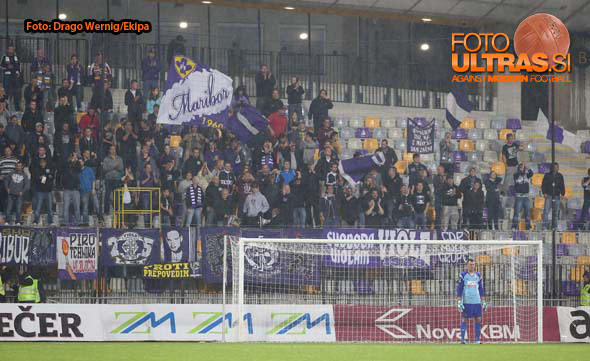 Soccer/Football, Maribor,  First Division (NK Maribor - NK Zavrc) , Fans Maribor, 23-Aug-2014, (Photo by: Drago Wernig / Ekipa)