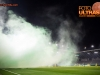 Stadium in fog due to pyrotechnic fire during football match between NK Olimpija Ljubljana and NK Domzale in 21st Round of Prva liga Telekom Slovenije 2015/16, on December 6, 2015 in SRC Stozice, Ljubljana, Slovenia. Photo by Vid Ponikvar / Sportida