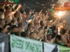 Green dragons, fans of Olimpija during football match between NK Olimpija Ljubljana and ND Gorica in 1st Round of Prva liga Telekom Slovenije 2015/16, on July 18, 2015 in SRC Stozice, Ljubljana, Slovenia. Photo by Vid Ponikvar / Sportida