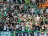 Green dragons fan group during football match between NK Olimpija Ljubljana and ND Gorica in 8th Round of Prva liga Telekom Slovenije 2016/17, on September 11, 2016 in Stozice, Slovenia. Photo by Grega Valancicc / Sportida