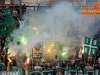 Green Dragons fans group of NK Olimpija Ljubljana during football match between NK Olimpija Ljubljana and ND Gorica in 8th Round of Prva liga Telekom Slovenije 2016/17, on September 11, 2016 in Stozice, Slovenia. Photo by Grega Valancicc / Sportida