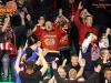 Fans of Jesenice during ice hockey match between HDD Olimpija Ljubljana and HDD SIJ Acroni Jesenice in Final of Slovenian League 2016/17, on April 6, 2017 in Hala Tivoli, Ljubljana, Slovenia. Photo by Matic Klansek Velej/ Sportida