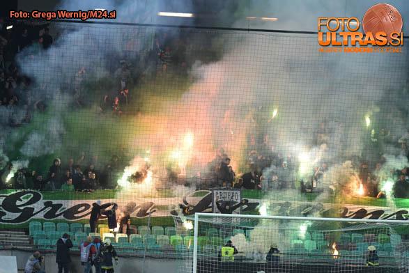Soccer/Football, Ljubljana, First division (NK Olimpija - NK Maribor), Green dragons fans, 29-Apr-2017, (Photo by: Grega Wernig / M24.si)